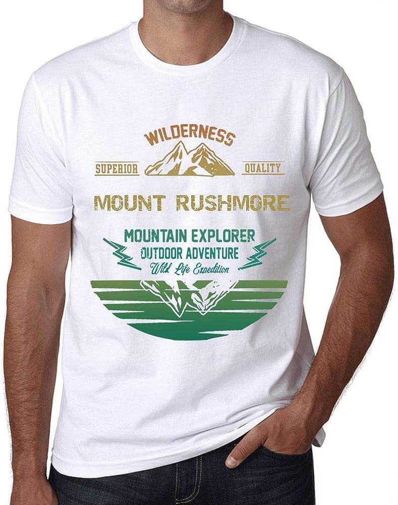 One in the City Hombre Camiseta Vintage T-Shirt Gráfico Mount Rushmore Mountain Explorer Blanco: Amazon.es: Ropa y accesorios