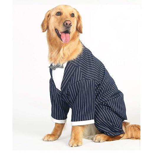 LDD-clothes Ropa para Perros Grandes Perro Grande Rayado Pajarita ...