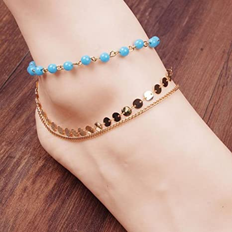Fabal 2017 Stylish Women Barefoot Sandals Beach Foot Jewelry Wedding Chain Anklet