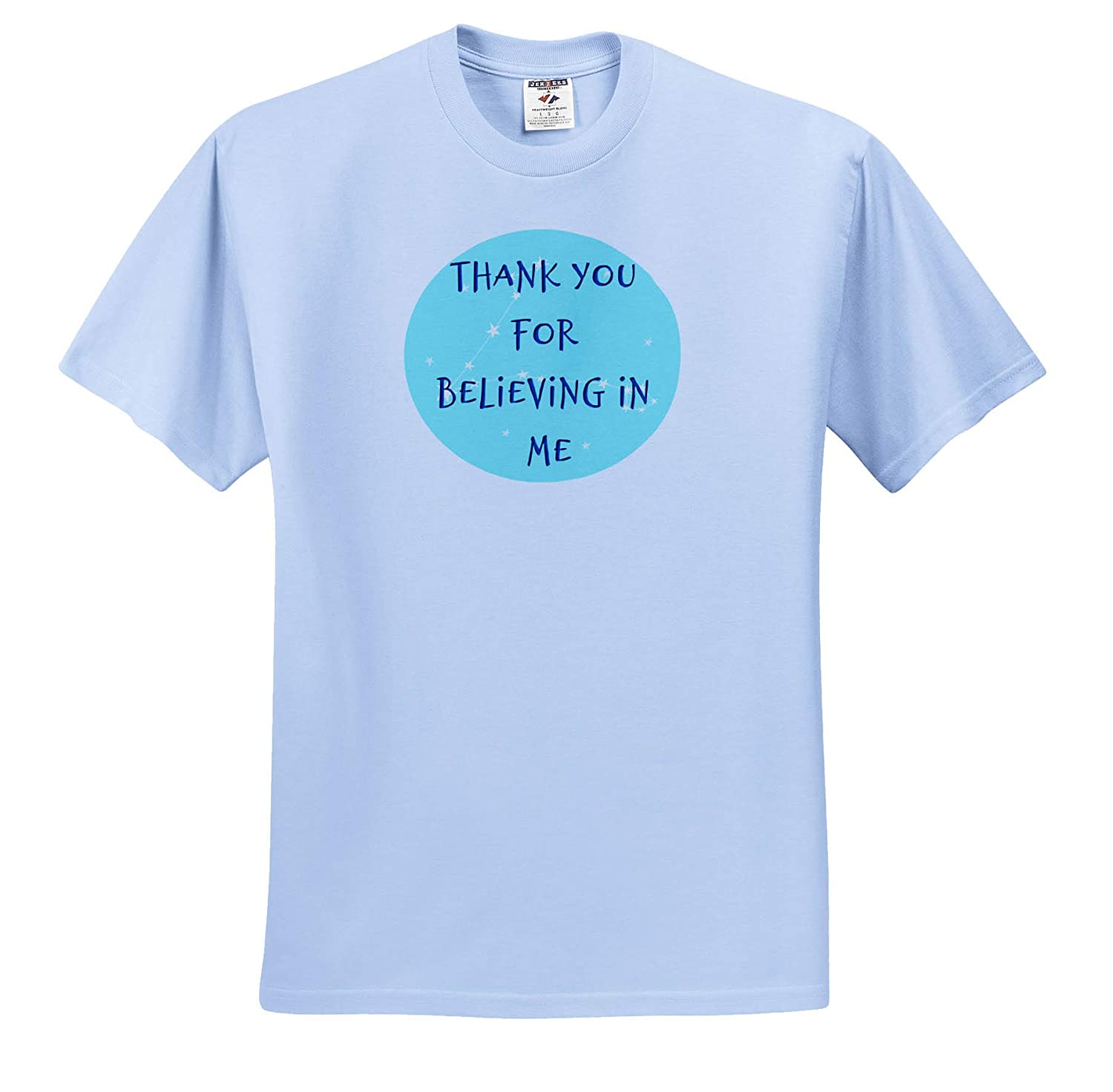 Adult T-Shirt XL Image of Thank You for Believing in Me ts/_317460 3dRose Carrie Merchant Image Quote
