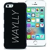 【WAYLLY】iPhone 5 / 5s / SE 対応兼用ケース, [どこでもくっつくケース] [米軍MIL衝撃吸収規格] ウェイリー アイフォン 耐衝撃 カバー (LOGO WHITE) ヒルナンデス,スッキリで放送