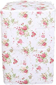 Vosarea Washing Machine Cover Top Load Automatic Washer Dryer Cover Waterproof Dustproof Anti-splash 54 x 54 x 82cm(Peony Flower Patterns)