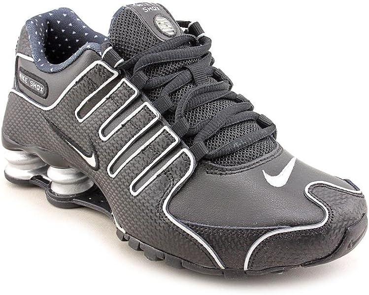 NIKE Shox NZ EU Womens Black Faux Leather Running Shoes Size  Amazon ... c4ba937a5