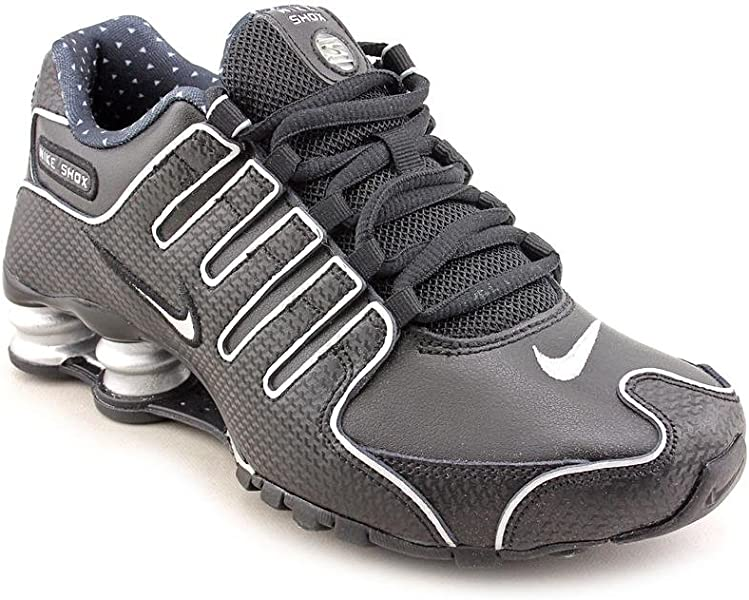 pretty nice e6cac 79b45 Shox NZ EU Womens Black Faux Leather Running Shoes Size