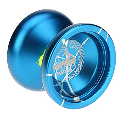 CCGTOY Professional N12 Aluminum Alloy Metal Yoyo 8 Ball KK Bearing with Spinning String for Kids Blue & Silver: Toys & Games