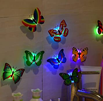 Amazon.com: Night Light,Tuscom@ 10 Pcs LED erfly Wall Stickers ... on