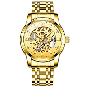 fd65ee977 Original Delicate Skeleton Mechanical Watches for Men Automatic Slef-Wind  Wrist Watch Luxury Stainless Steel