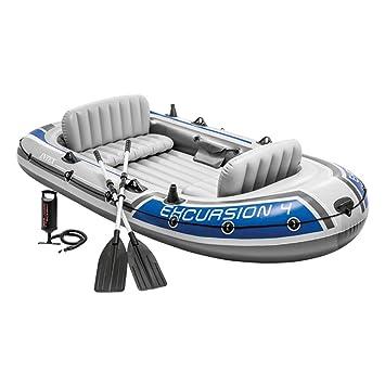 Intex 68324NP - Barca hinchable Excursion 4 con 2 remos 315 x 165