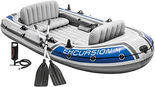 Intex 68324NP - Barca Hinchable Excursion 4 con 2 Remos 315 x 165 x 43 cm