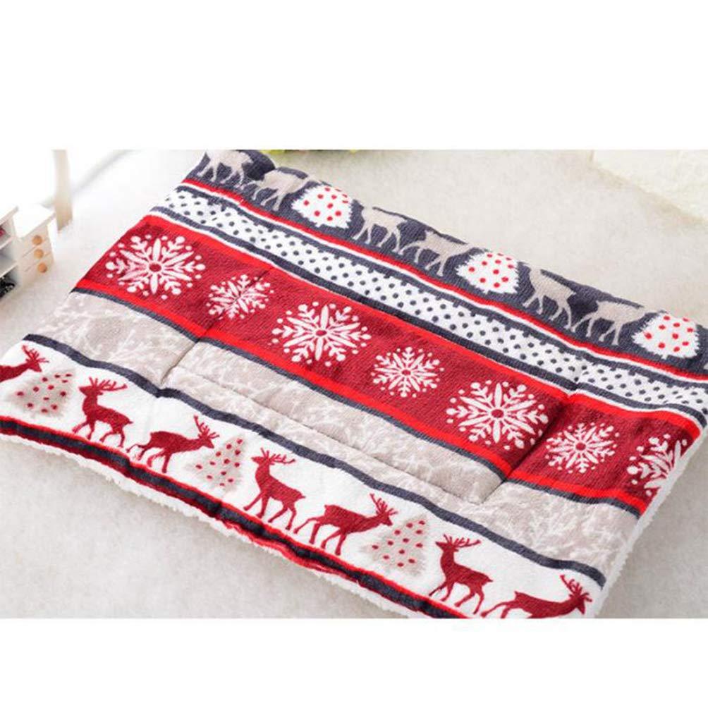 A XL A XL Jim Hugh Warm Dog Blanket Mat Thicken Soft Fleece Puppy Cat Dog Cushion Sleep Mat for Pets Teddy Bichon Labrador Pad Size S M L XL Size
