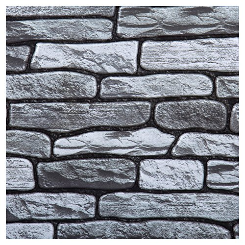 CTG, 3D Stone Peel and Stick Wall Tile, 11.8 x 11.8, Grey, 6 -