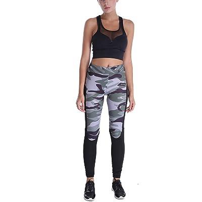 Mme Taille Camouflage Impression Numérique Leggings Yoga Pantalons Leggings D'exercice Stretch Pantalons Serrés