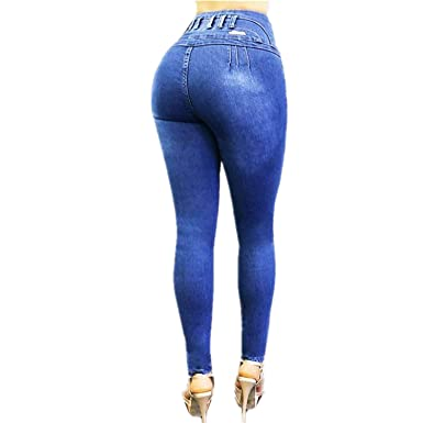 Women Jeans Waist Skinny Butt Lifting Elastic Bodycon Pencil Sexy Push Up Hip Cotton Ladies Jeans Femme Denim Pants Women's Clothing Jeans