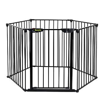 Amazon Com Bonnlo 145 Inch Metal Fireplace Fence Adjustable 6