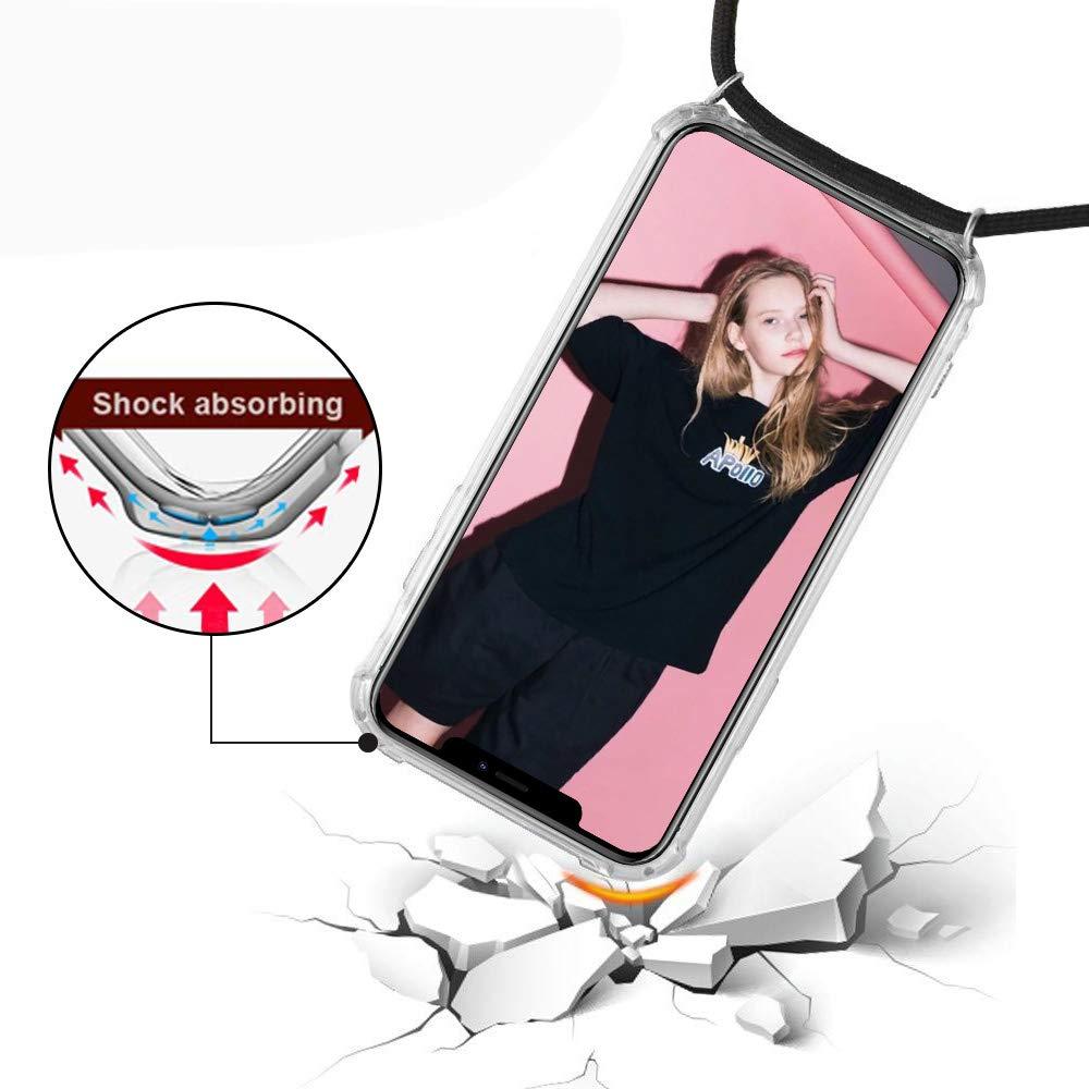 Smartphone Necklace H/ülle mit Band Transparent Schutzh/ülle Stossfest Schnur mit Case zum Umh/ängen in Regenbogen XTCASE Handykette kompatibel mit Samsung Galaxy A3 2017 Handyh/ülle