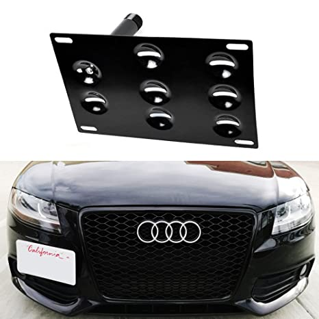 iJDMTOY Euro Style Front Bumper Tow Hole Adapter License Plate Mounting Bracket For Audi A4 A5  sc 1 st  Amazon.com & Amazon.com: iJDMTOY Euro Style Front Bumper Tow Hole Adapter License ...