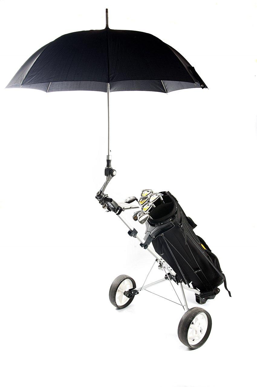 Deki Dry & Go soporte ajustable de paraguas para carros de golf, bebé/Cochecitos Cochecitos y Sillas de ruedas para proporcionar protección de los elementos ...