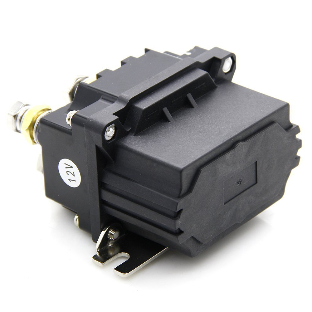 Amazon.com: Yikesai 12V 500A Winch Solenoid Relay- with Powder Coated  Finish- for ATV UTV 4X4 Truck Boat - Winch Contactor Rocker Switch Thumb  (1): ...