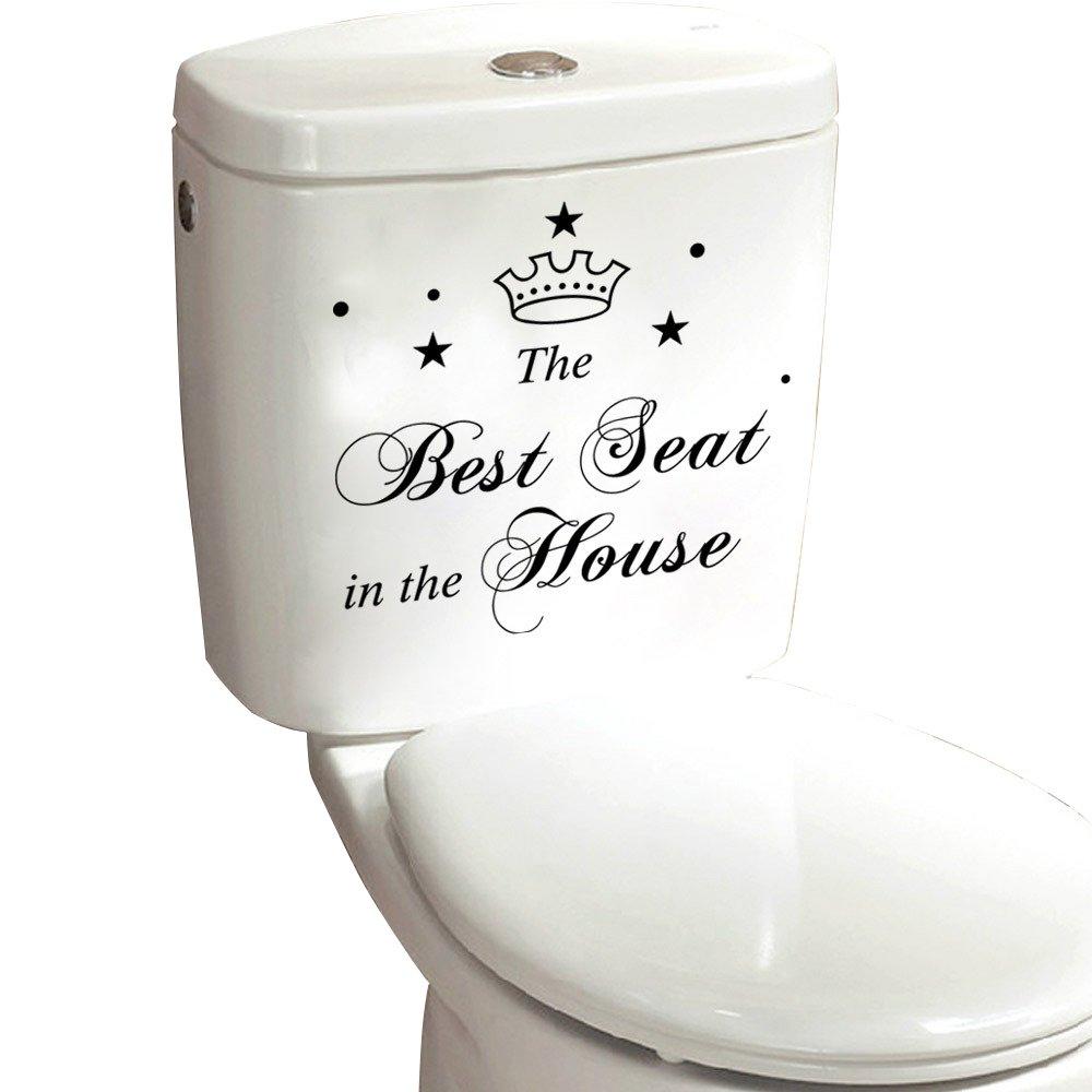 Autocollant Sticker WC Pour La Salle De Bain ,Toilette Et Deco Maison