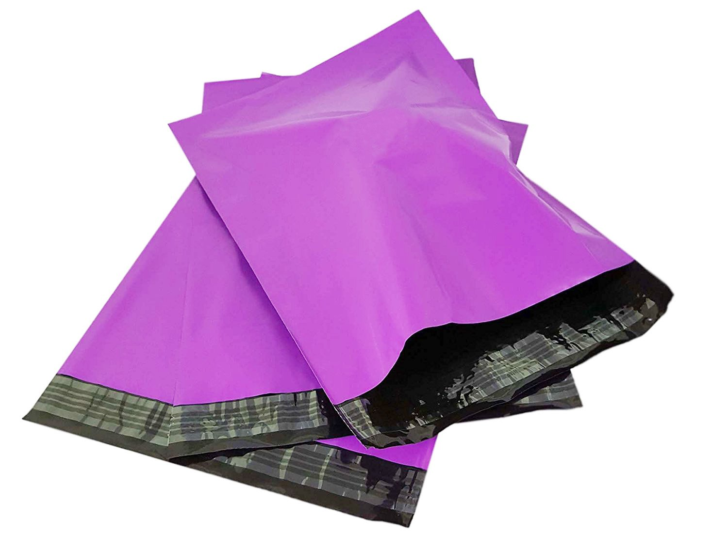 """Poly Mailers Envelopes Shipping Bags Self Sealing (10""""x13"""" Purple)"""