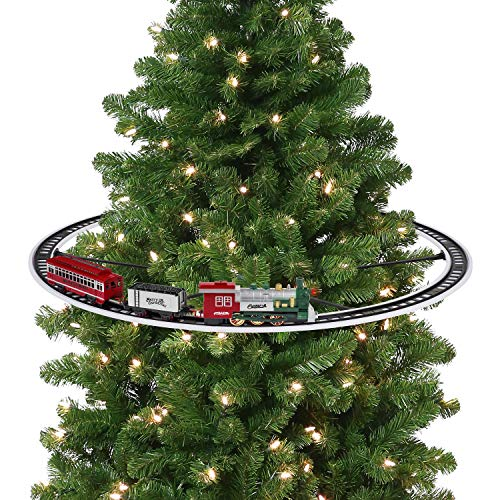 Mr. Christmas 22849 Oversized Animated Train Around The Tree Holiday Decoration, One Size, Multi (Train On Christmas Track Tree)
