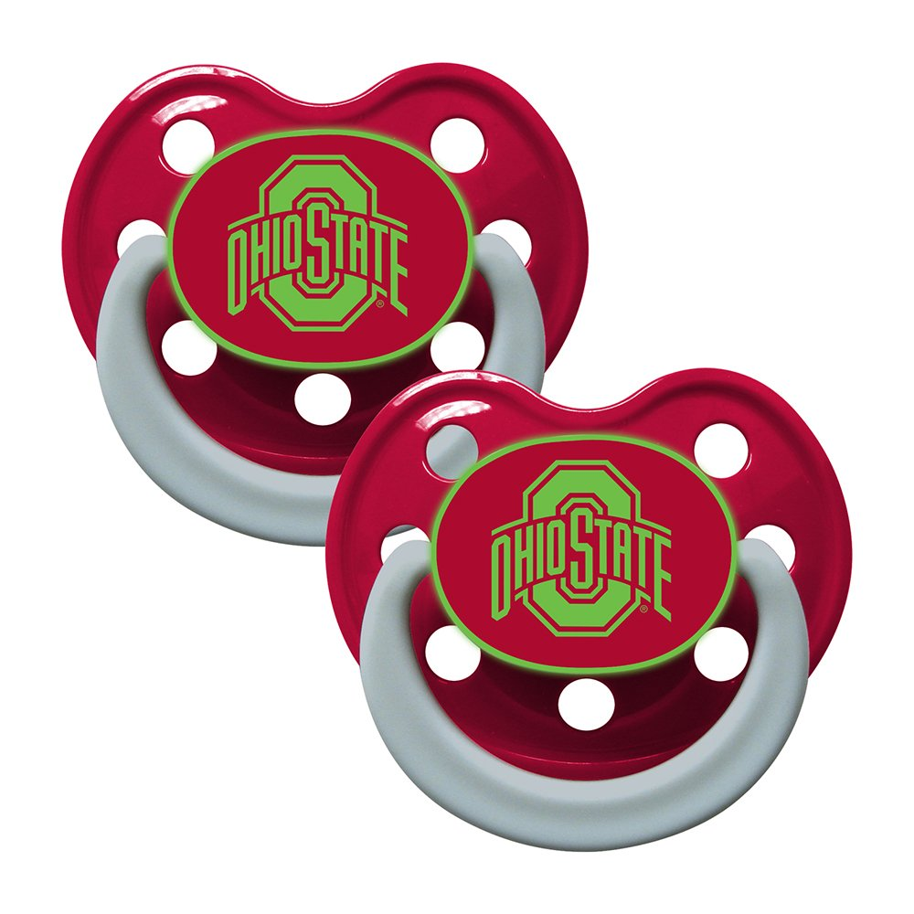 NCAA Ohio State University Baby Fanatic BPA Free Pacifiers 2-Pack 3 Months Up