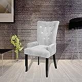 SKB Family Luxury Armchair Velvet-coated Silver English Style Seat