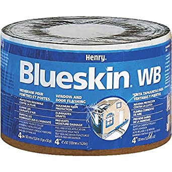 Henry BH200WB4559 Blueskin Weather Barrier Self Adhesive Waterproofing  Membrane  50  Length x 4 quot. Henry BH200WB4559 Blueskin Weather Barrier Self Adhesive