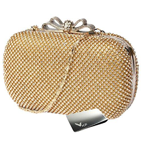 kilofly - Bolso bandolera mujer dorado