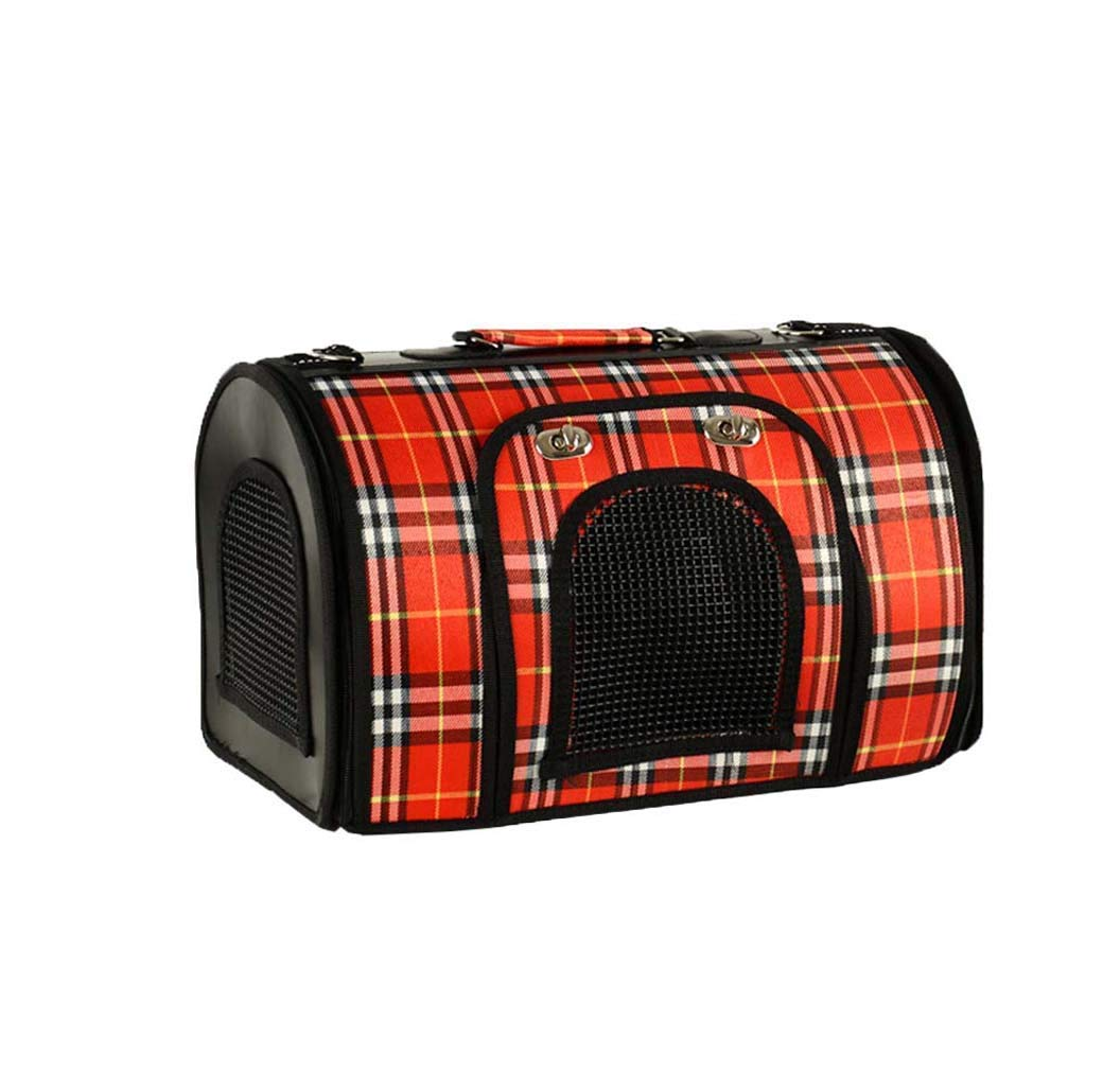 Red 1 S Red 1 S Pet Travel Carrier Out Pet Bag, Portable Pet Travel Carrier, Soft Comfortable Double-Sided Pouch Ourtdoor Pet Bag (color   Red 1, Size   S)