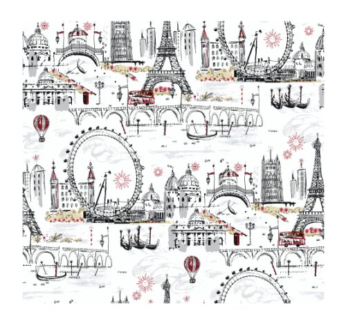 York Wallcoverings Tres Chic Euro Scenic Removable...