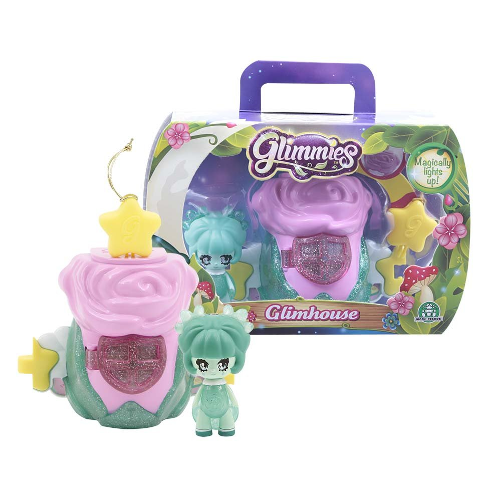 Glimmies Pink Glimhouse /& Green Glimmie Figure Set Just Play GLM031