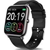 """Rinsmola 2021 Smart Watch for Android/iOS Phones, 1.4"""" Full Touch Screen Fitness Tracker, Smartwatch for Men Women Heart Rate"""