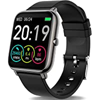 """Rinsmola 2021 Smart Watch for Android/iOS Phones, 1.4"""" Full Touch Screen Fitness Tracker, Smartwatch for Men Women Heart…"""