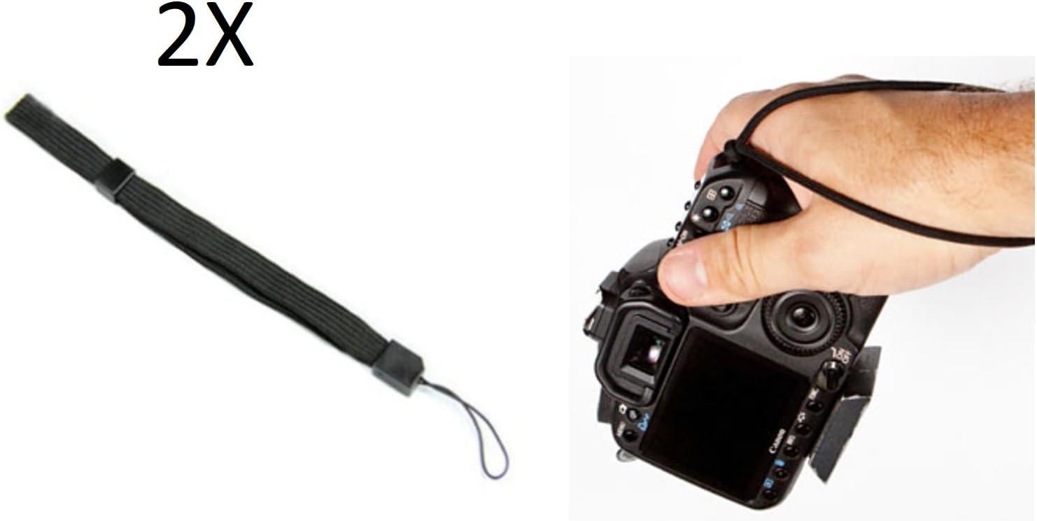 tecnostore® 2 x correa de muñeca correa negro para cámara Smartphone Teléfono Móvil: Amazon.es: Electrónica