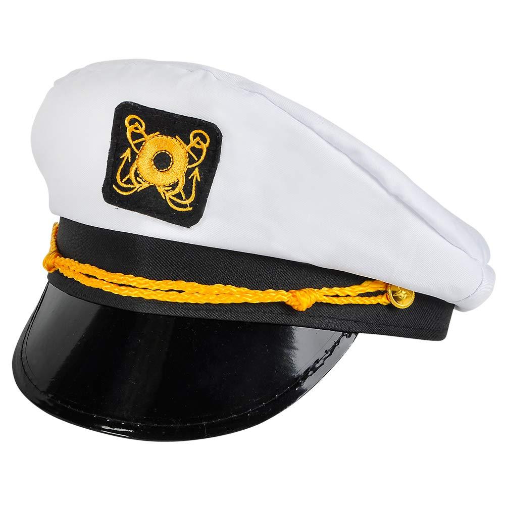 Amazon.com  Bedwina Yacht Captain Hat - (Pack of 2) Adult Cruise Ship  Nautical Admiral Sailor Navy Cap  Clothing dea442de9f