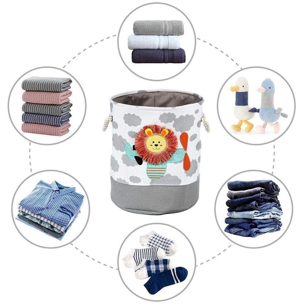 kongnijiwa Algod/ón Ropa de ba/ño Plegable Ropa Sucia lavander/ía Almacenamiento Cubos Cesta de Juguetes de ni/ños