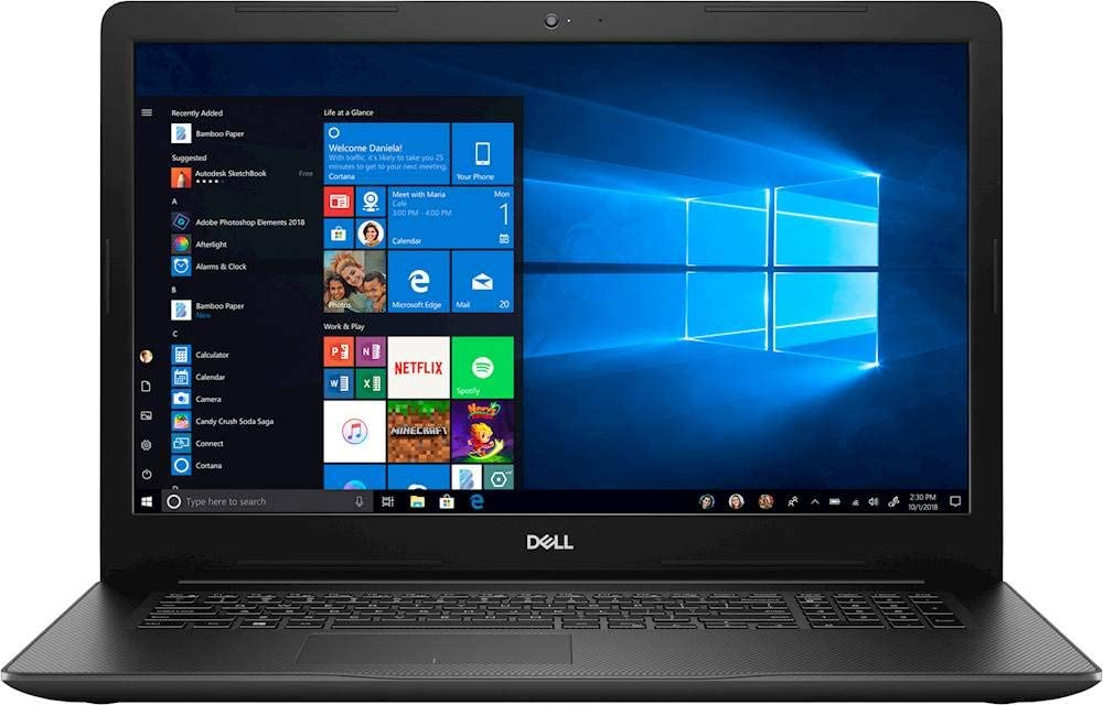 "Dell Inspiron 17 I3793-17.3"" FHD - 10gen i5-1035G1-8GB - 1TB HDD - Black"