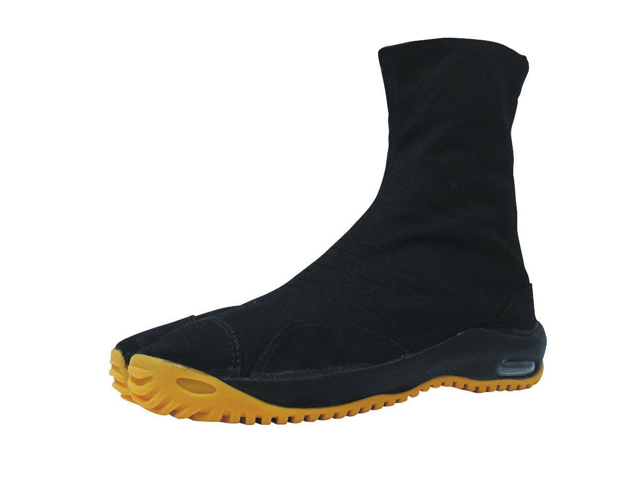 Marugo Air Jog Tabi Ninja Boots 6 Clips 3 Colors (25.5 cm, Black)