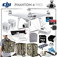 DJI Phantom 4 Pro Explorers II Bundle: Includes High Capacity Intelligent Flight Battery, Spare Battery, Backpack Case Pack - Camo Green, Sun Shade, High Speed 32GB MicroSD Card and more...