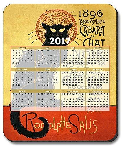 Van Gogh–Chat Noir Mouse Pad–con 2017Calendario
