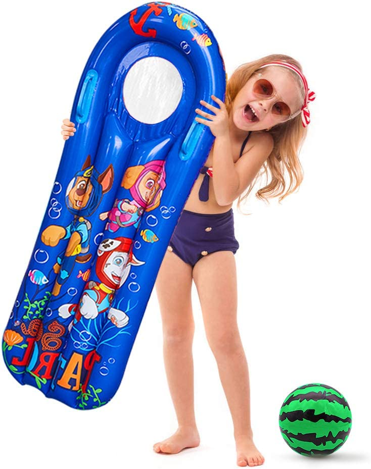 red Blue Cute Cartoon Kids Pool Toys Swim Floats Tube for Kids Swimming Pool Party Decoration,Kids Pool Games Party Supplies Summer Inflatable Pool Floats for Kids Sizes 3 Pack