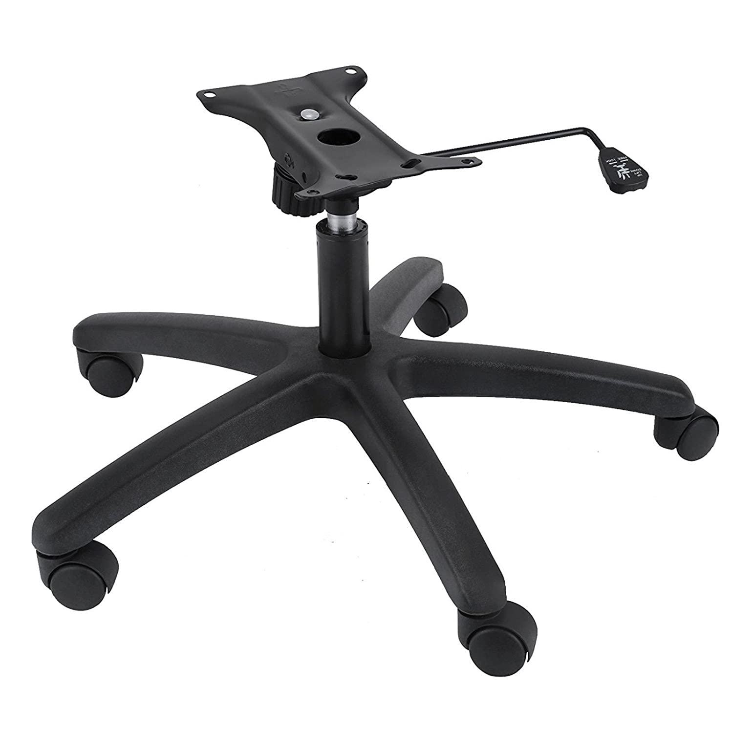 SHZOND 350 Pounds Replacement Office Chair Base 28 Inch Swivel Chair Base with Casters Heavy Duty Black