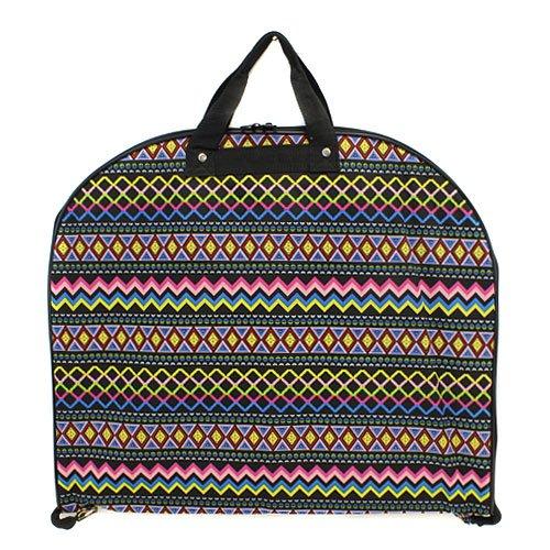 [luggage garment bag Aztec multi black trim] (Theatre Costume Closet)