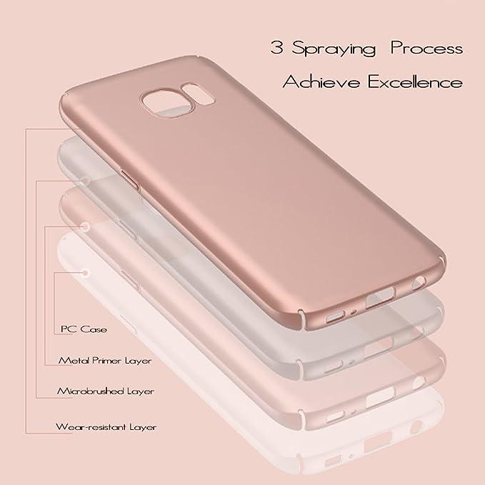 anccer Funda Compatible with Samsung Galaxy S7 [Serie Colorida] [Ultra-Delgado] [Ligera] Anti-rasguños Estuche para Carcasa Samsung Galaxy S7 (Azul ...