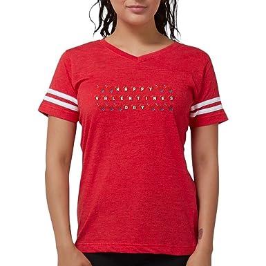 2ed2ddc3 Amazon.com: CafePress Emoji Happy Valentines Day Womens Football ...