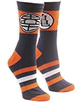 Ripple Junction Dragon Ball Z Kame Symbol With Stripes Socks