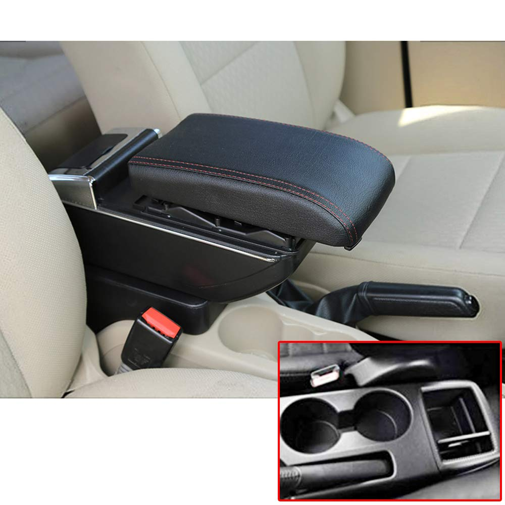 for Mazda MZD CX3 2014-2019 Car Center Console Armrest Box Cover Armrest Pillow Cushion Car Storage Organizer Accessories Black