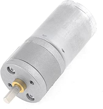12V 30RPM Gear Motor 25mm DC 12V 25GA-370 Low Speed Metal High Torque Mini Gear Motor for Electronic DIY 5-1000RPM
