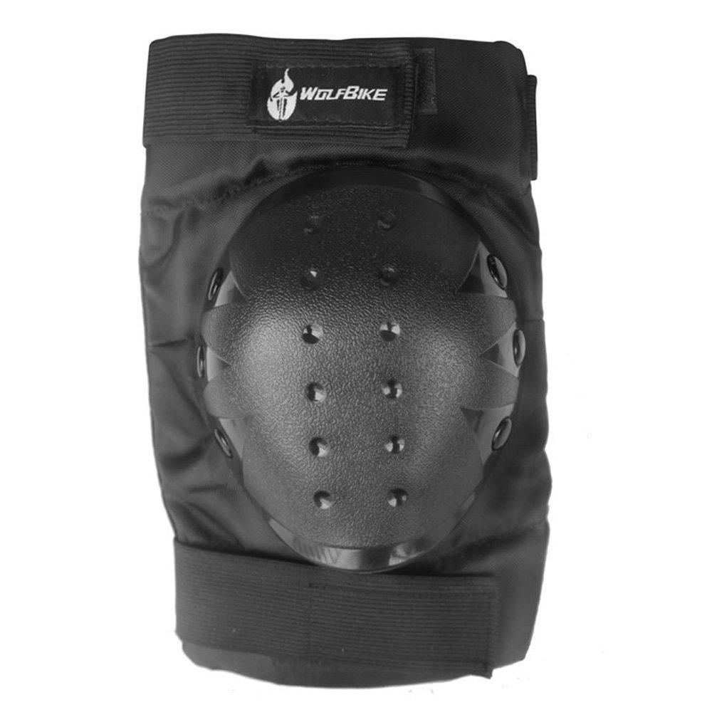 Black WOLFBIKE 2pcs Professional Knee Pad PVC Knee Protector Skating Skiing Snowboarding